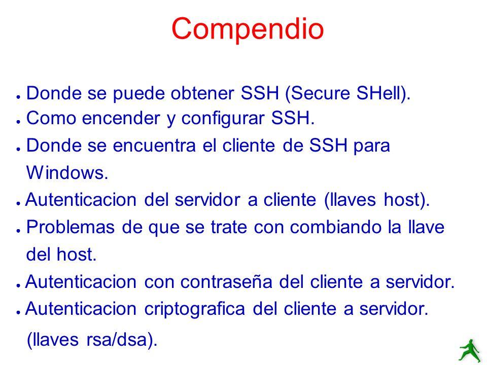Compendio Donde se puede obtener SSH (Secure SHell).