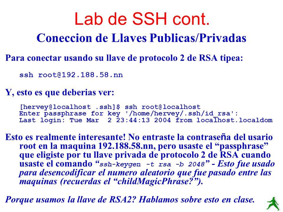 Coneccion de Llaves Publicas/Privadas