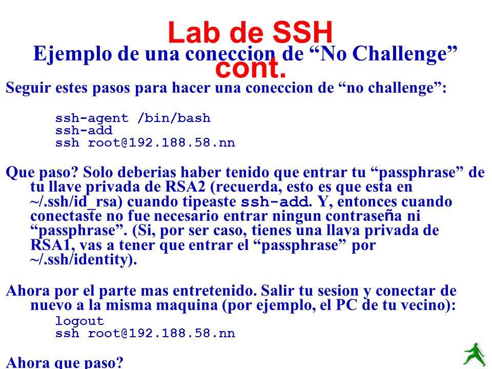 Ejemplo de una coneccion de No Challenge