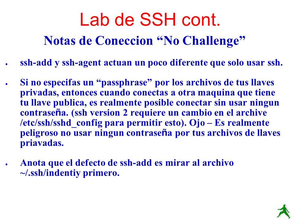 Notas de Coneccion No Challenge