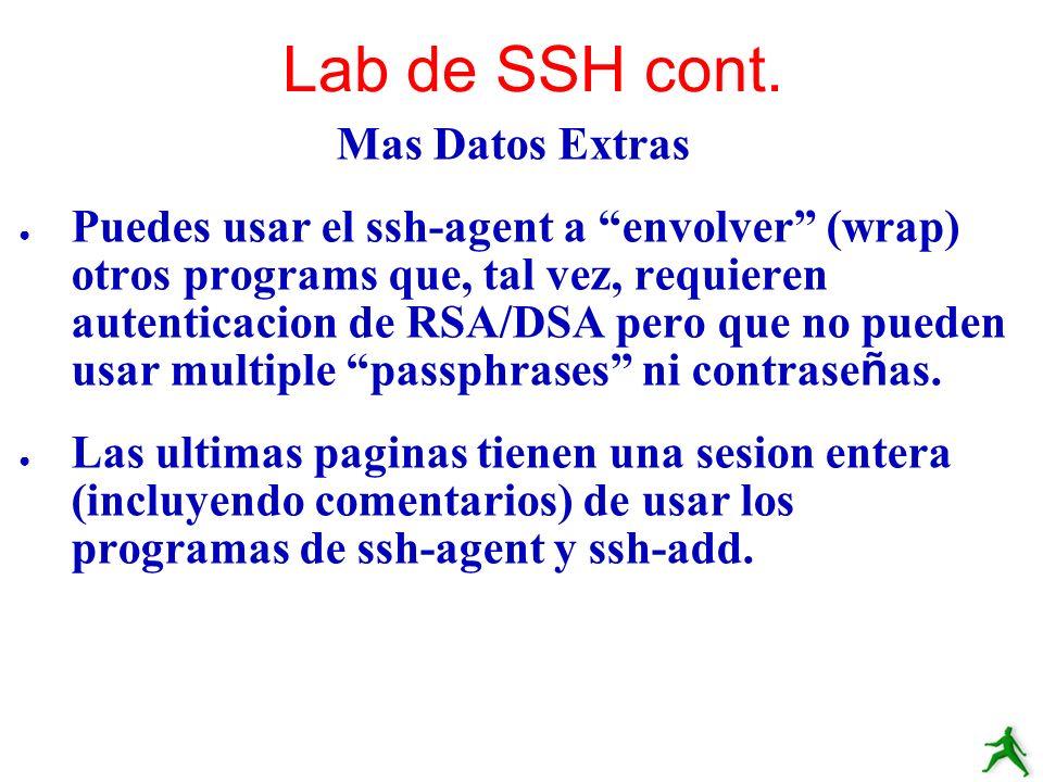Lab de SSH cont. Mas Datos Extras