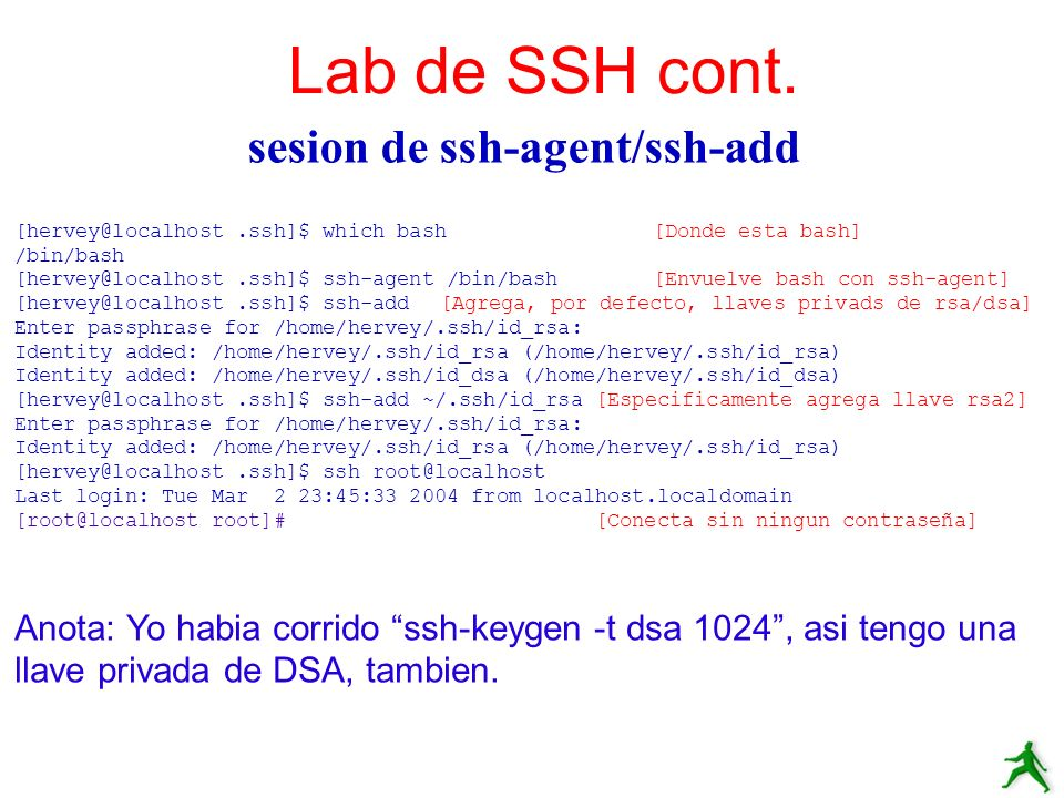sesion de ssh-agent/ssh-add