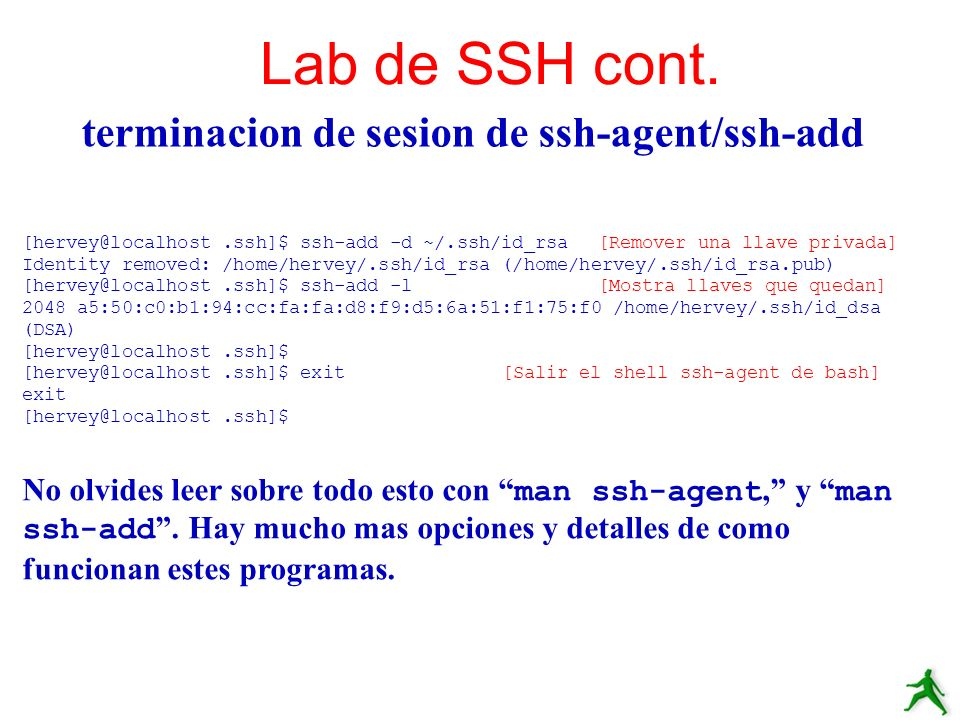 terminacion de sesion de ssh-agent/ssh-add