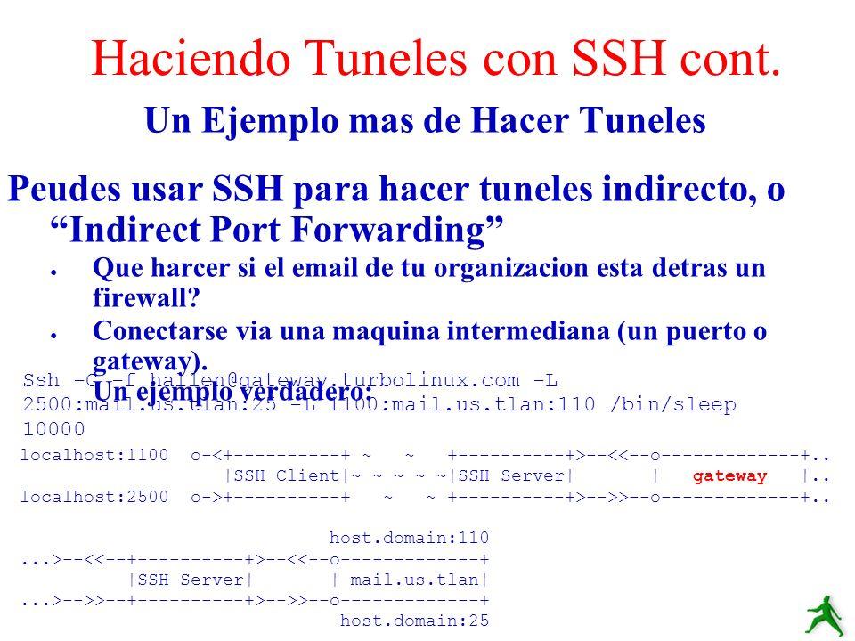 Haciendo Tuneles con SSH cont.