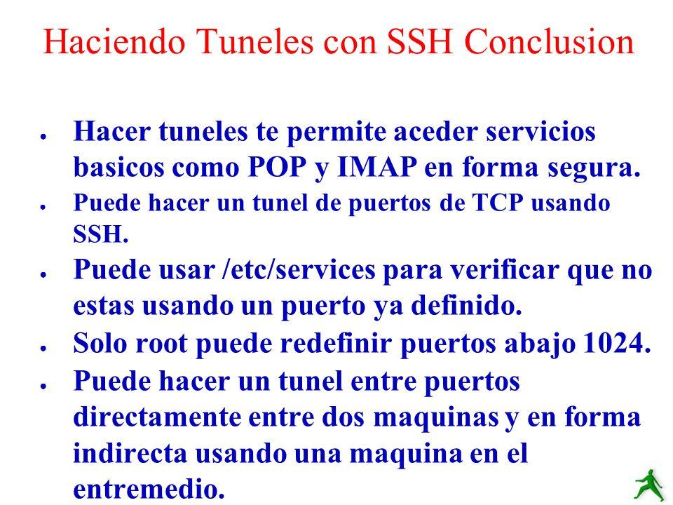 Haciendo Tuneles con SSH Conclusion