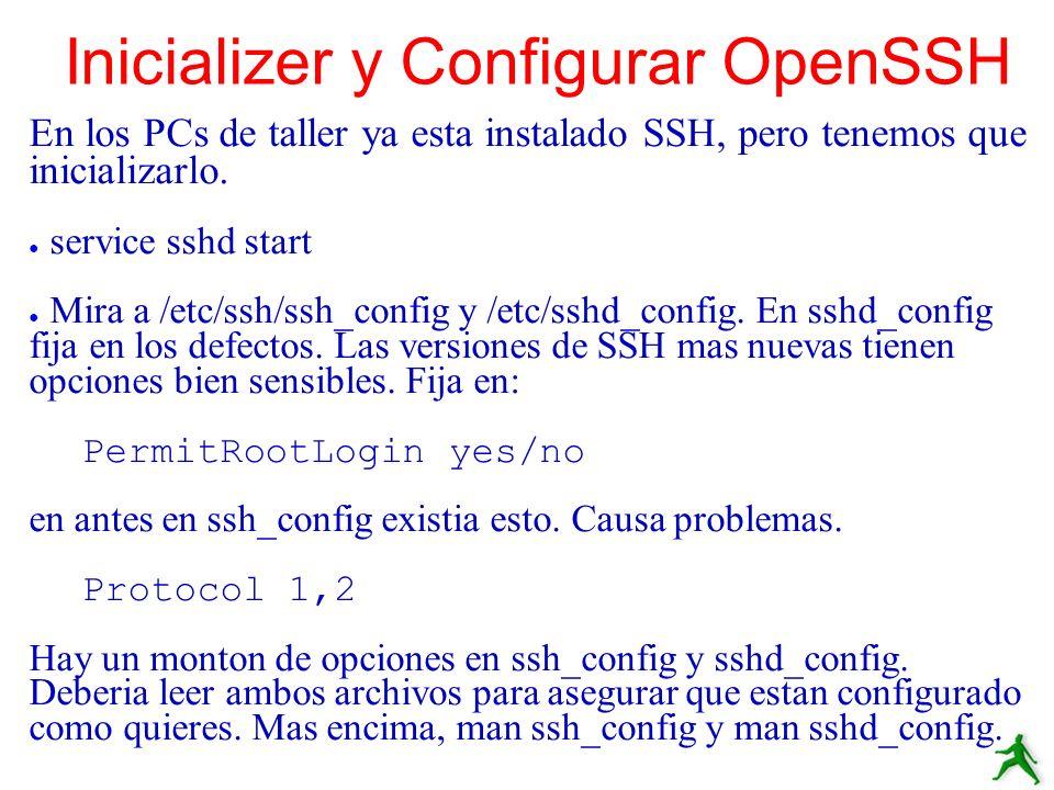 Inicializer y Configurar OpenSSH
