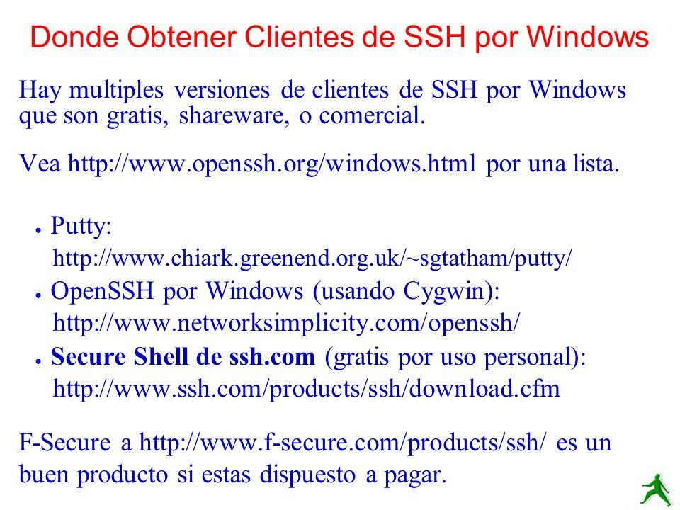 Donde Obtener Clientes de SSH por Windows