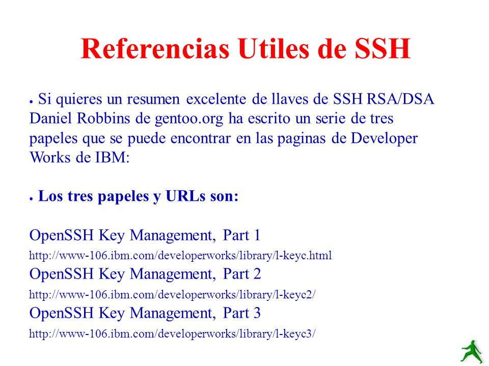 Referencias Utiles de SSH