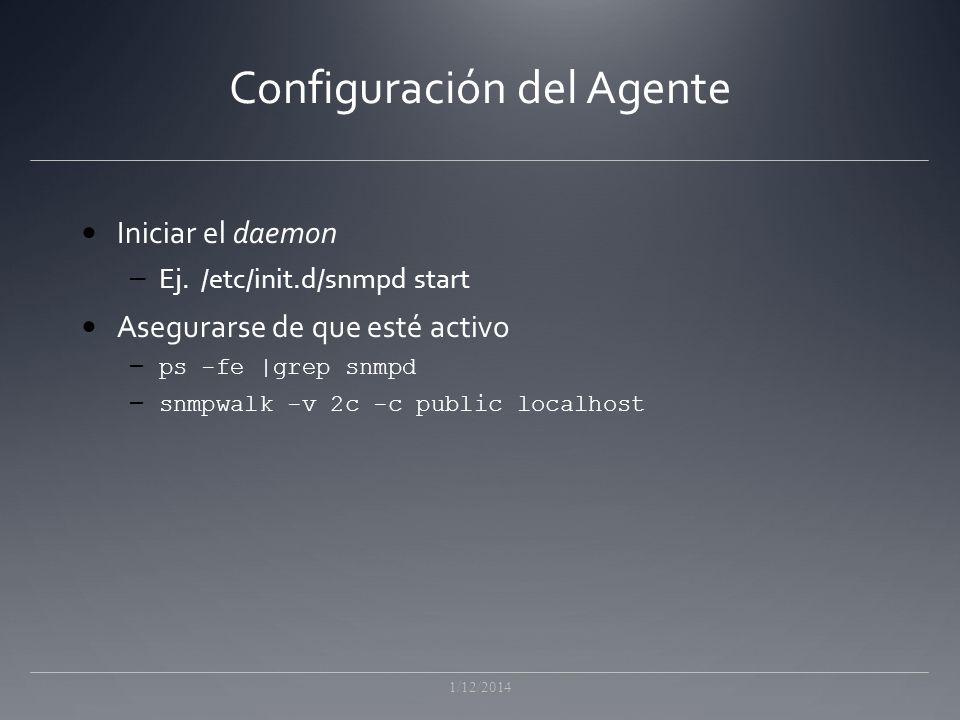 Configuración del Agente