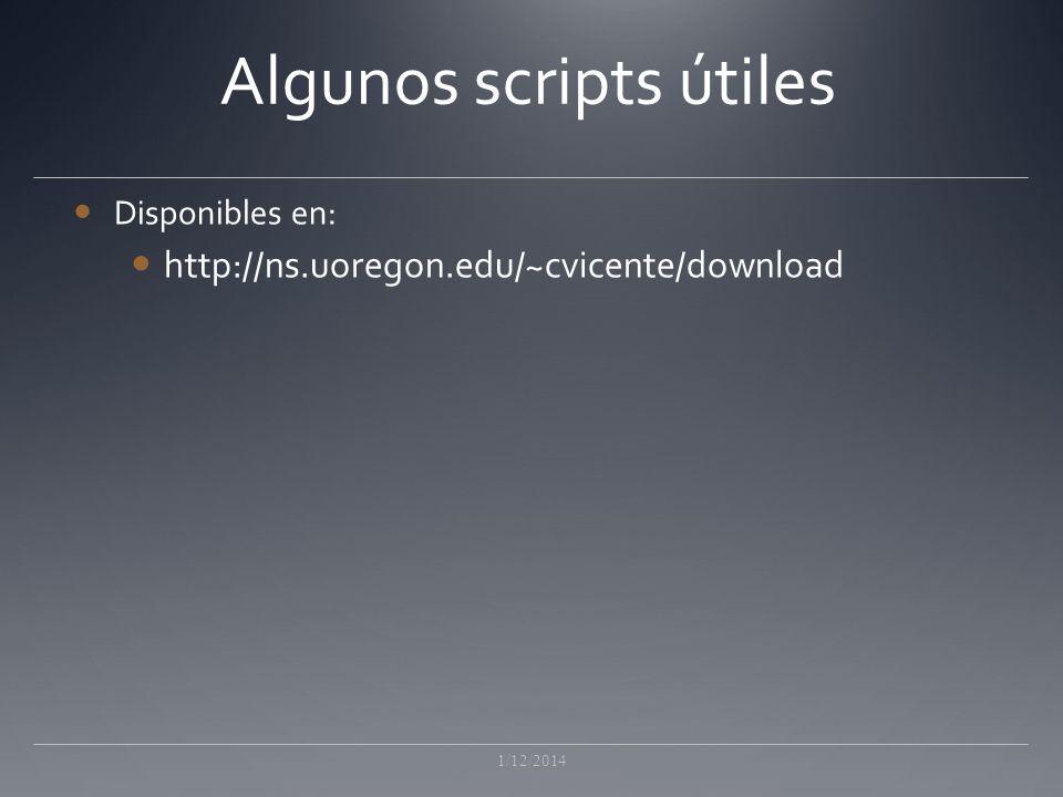 Algunos scripts útiles