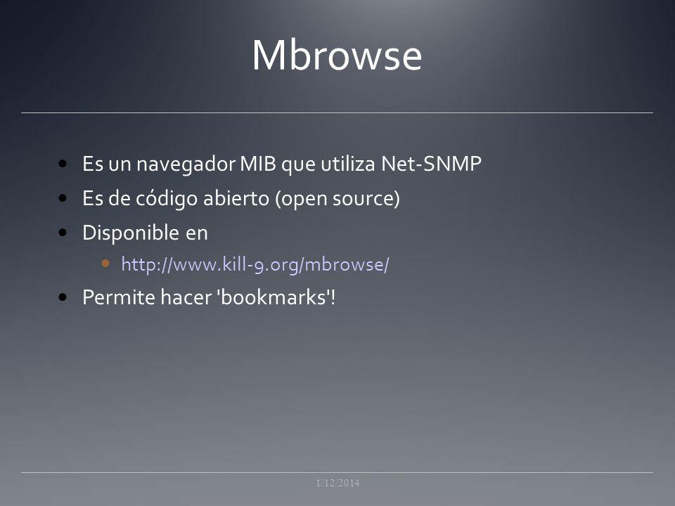 Mbrowse Es un navegador MIB que utiliza Net-SNMP