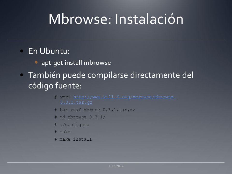 Mbrowse: Instalación En Ubuntu: