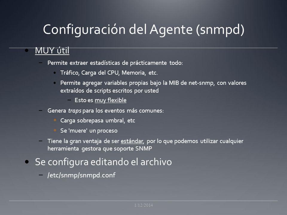 Configuración del Agente (snmpd)
