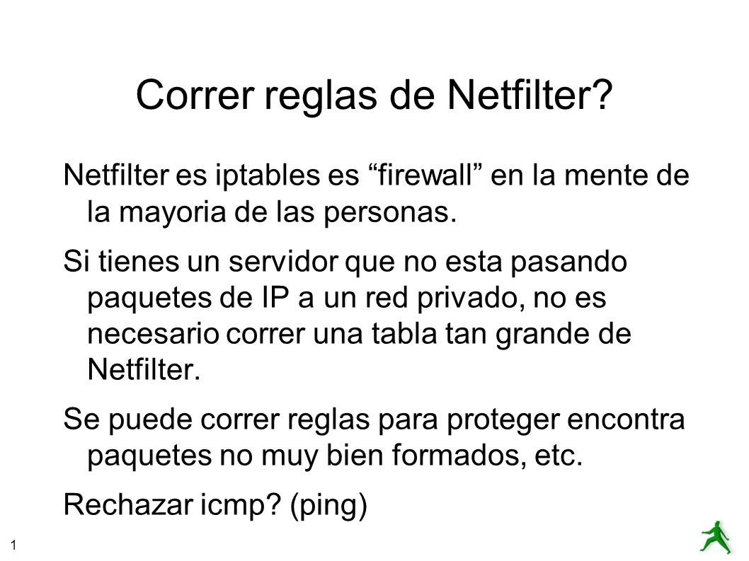 Correr reglas de Netfilter