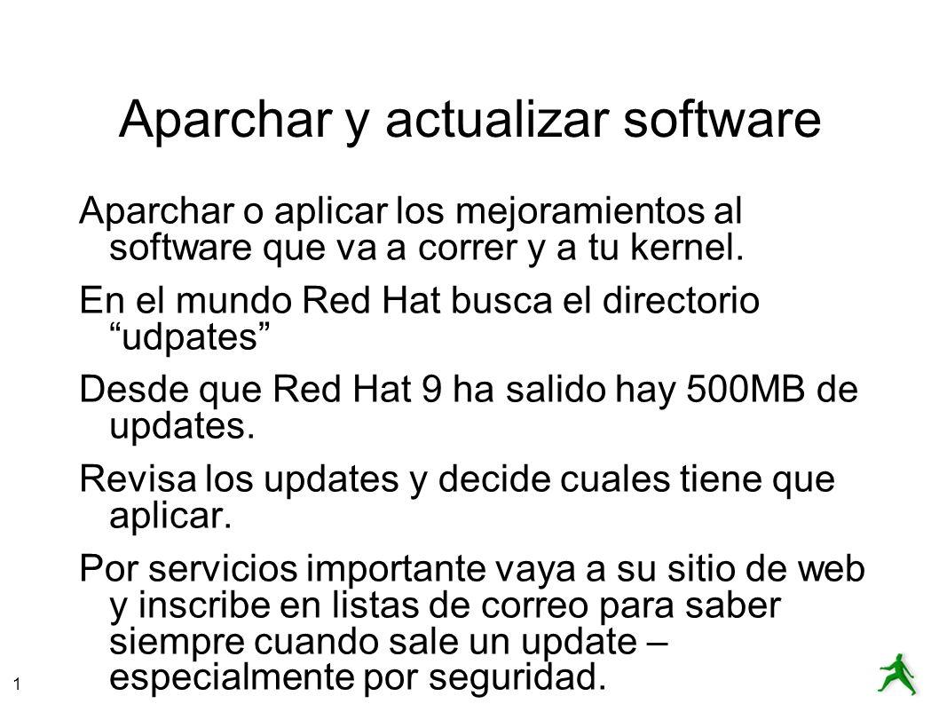 Aparchar y actualizar software