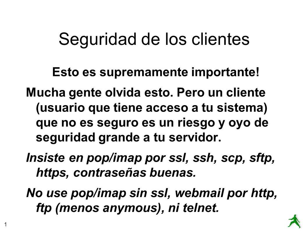 Seguridad de los clientes