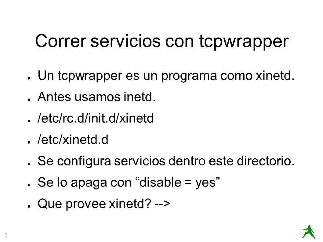 Correr servicios con tcpwrapper