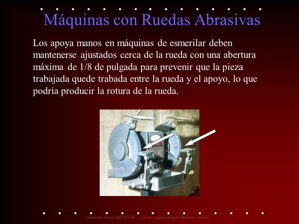 Máquinas con Ruedas Abrasivas