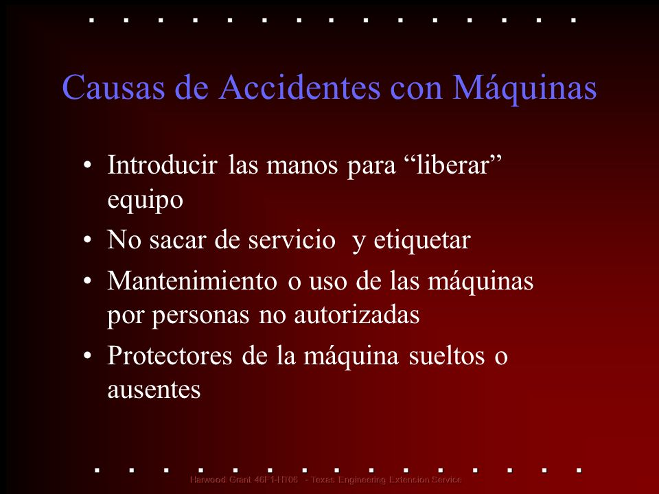 Causas de Accidentes con Máquinas