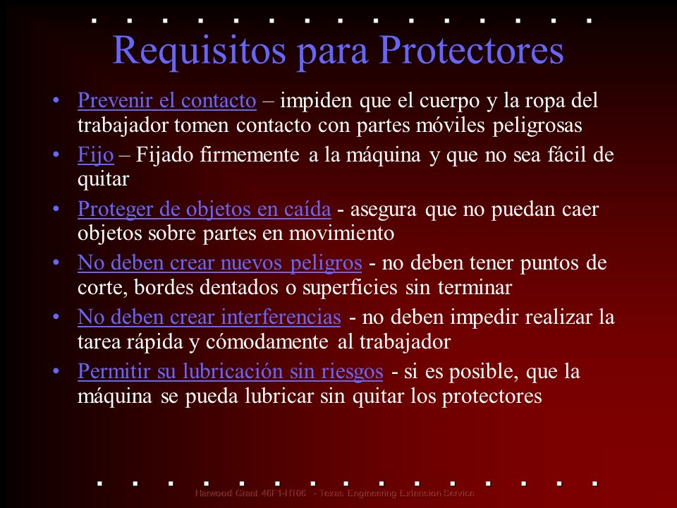 Requisitos para Protectores