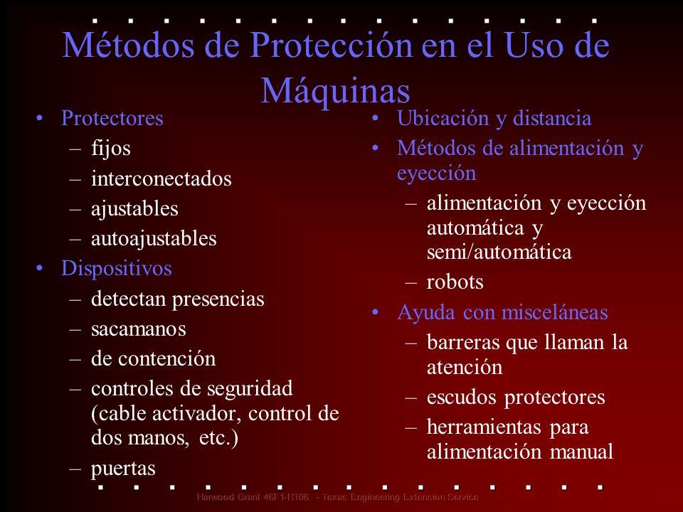 Métodos de Protección en el Uso de Máquinas