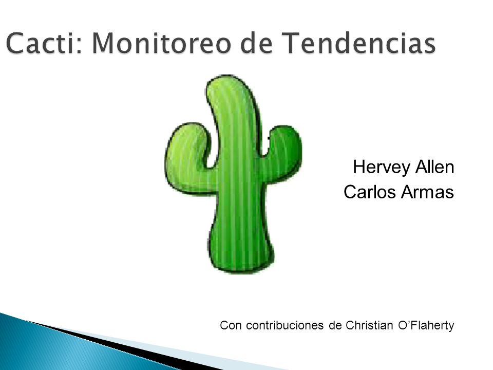 Cacti: Monitoreo de Tendencias