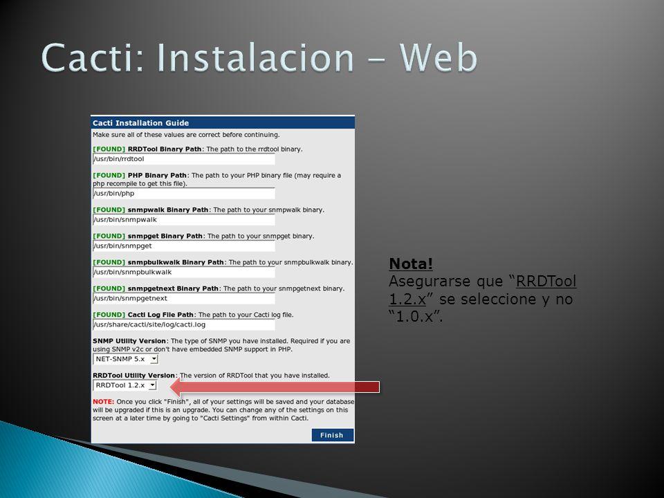 Cacti: Instalacion - Web