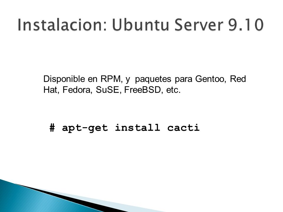 Instalacion: Ubuntu Server 9.10