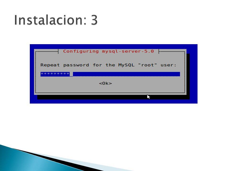 Instalacion: 3