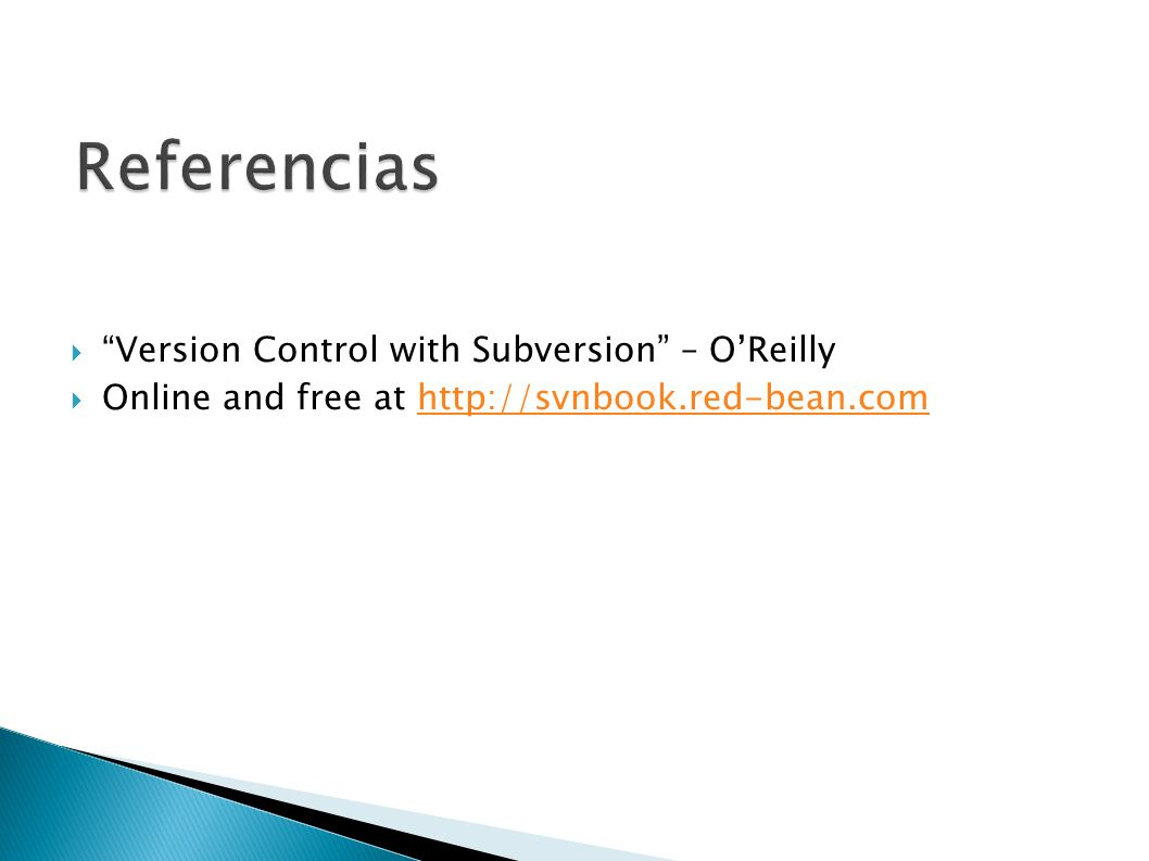 Referencias Version Control with Subversion – O'Reilly