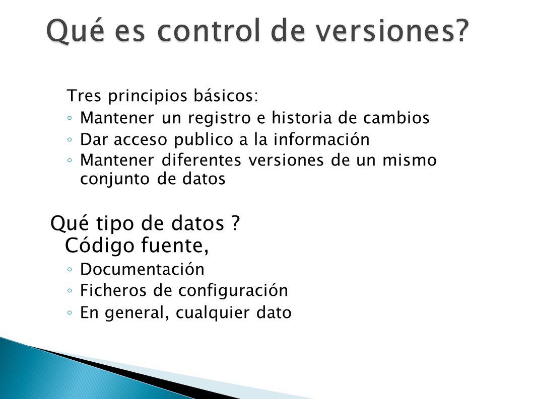 Qué es control de versiones