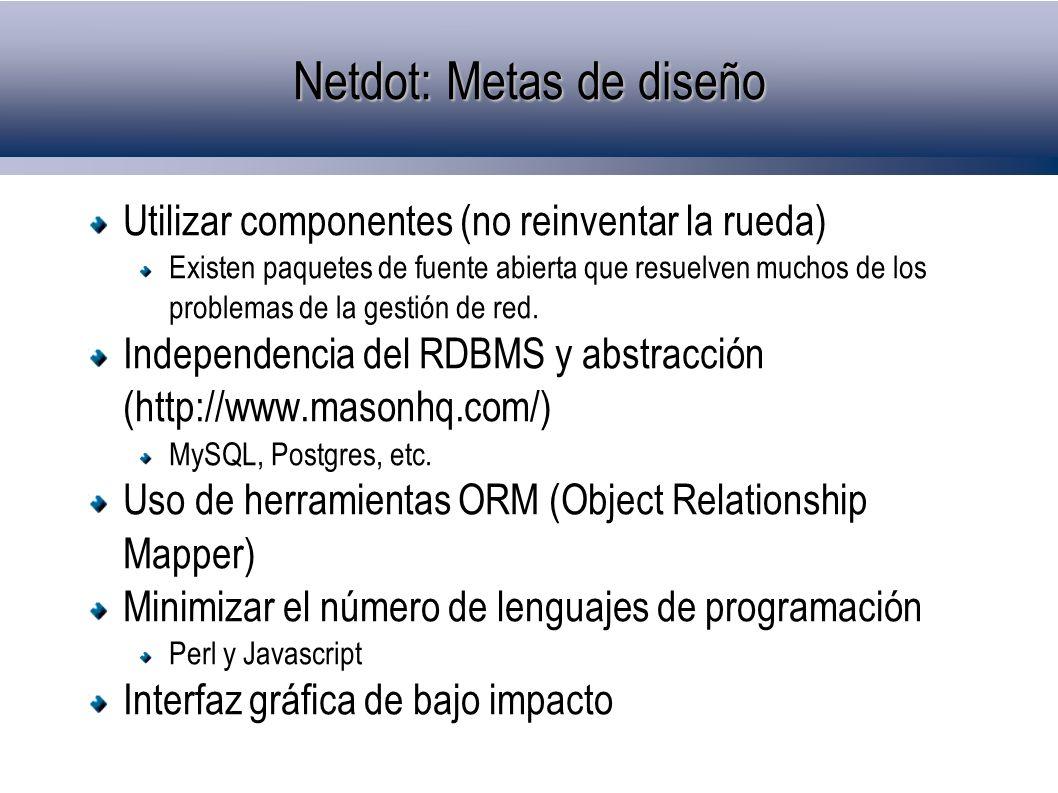 Netdot: Metas de diseño