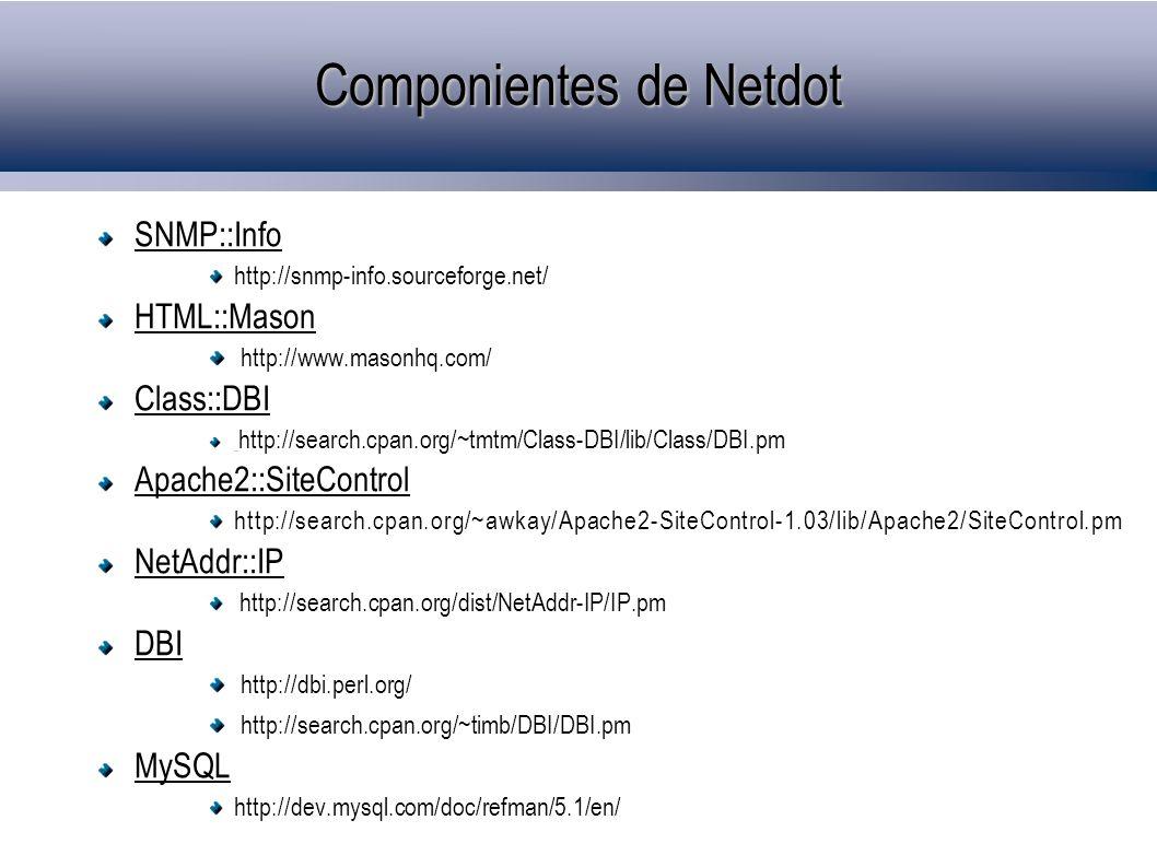 Componientes de Netdot