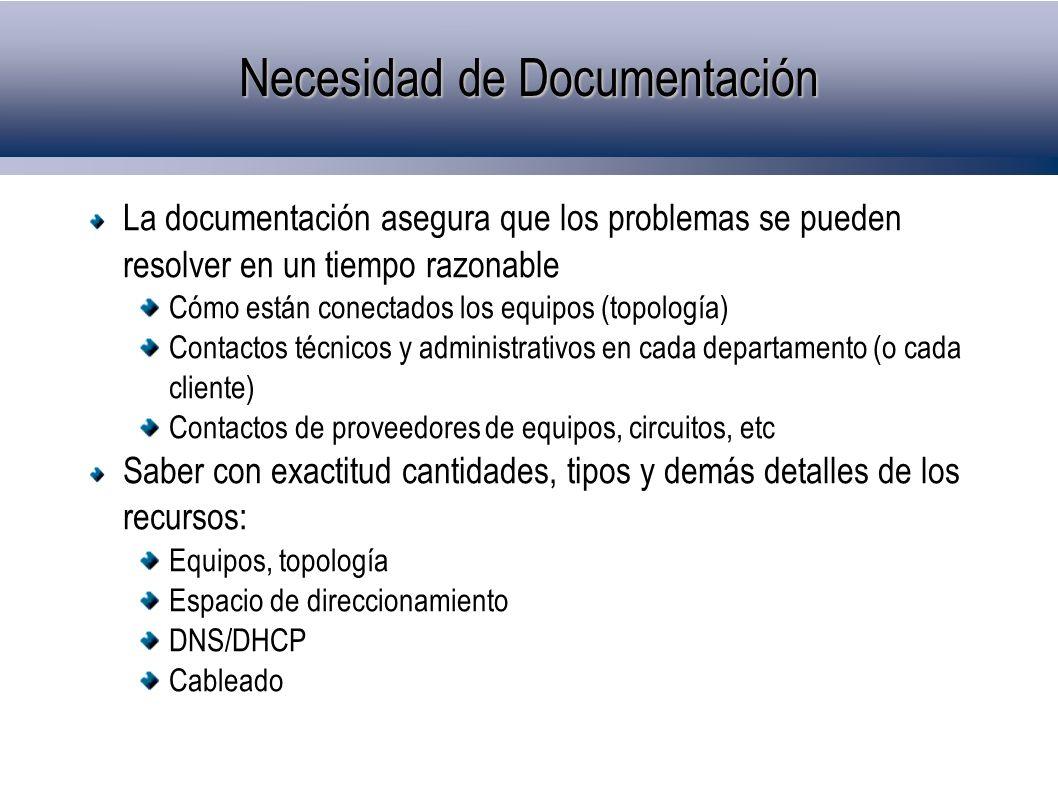 Necesidad de Documentación