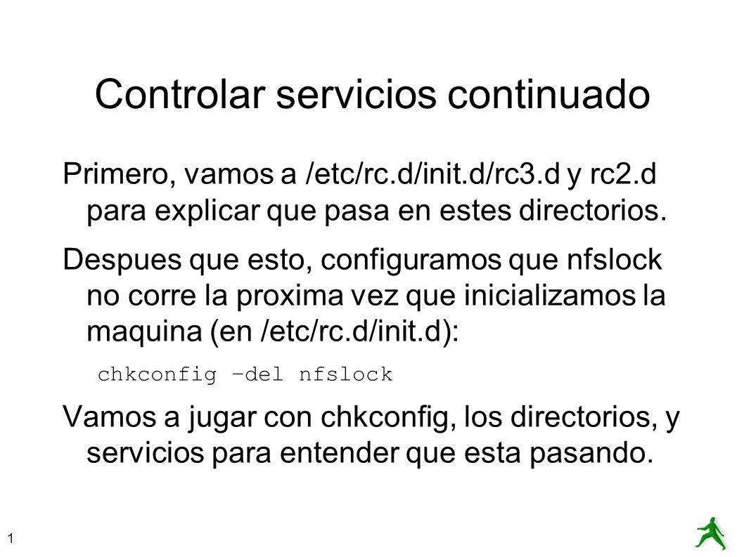 Controlar servicios continuado