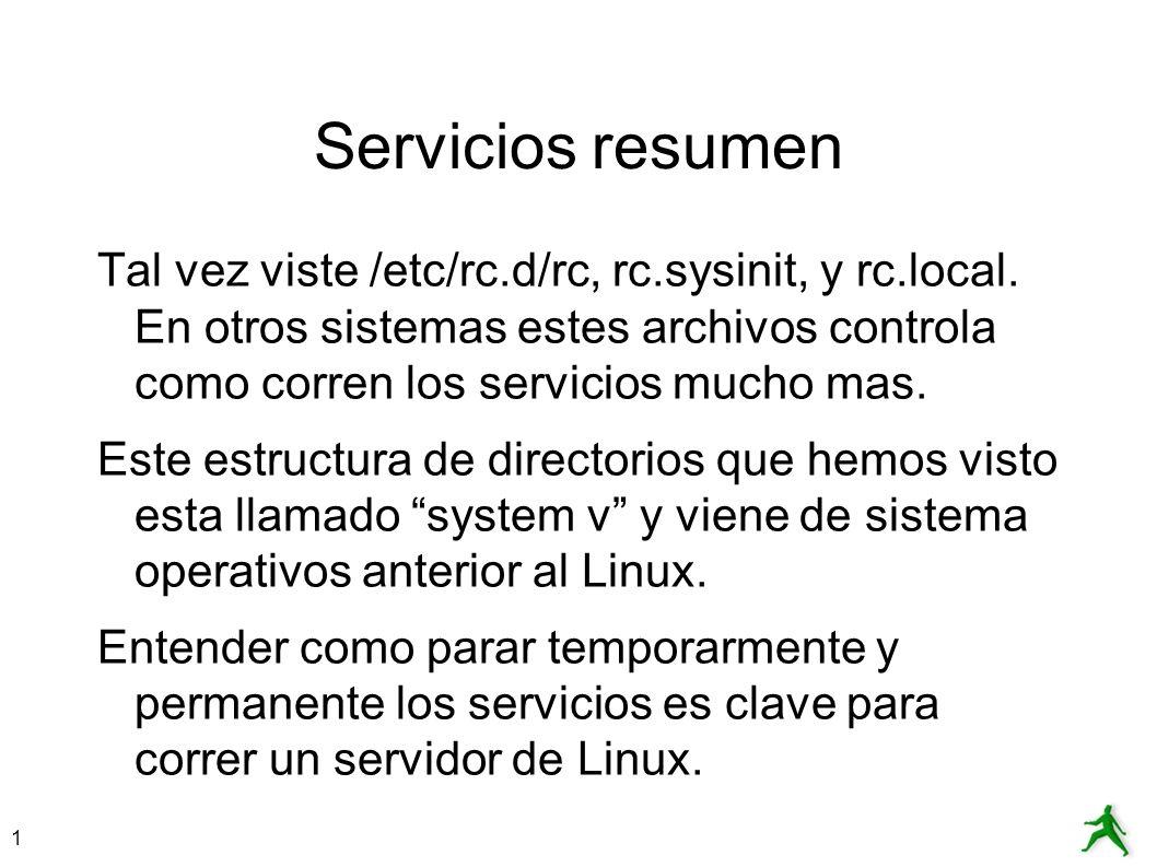 Servicios resumen