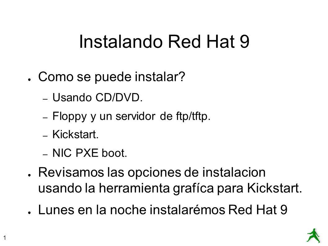 Instalando Red Hat 9 Como se puede instalar