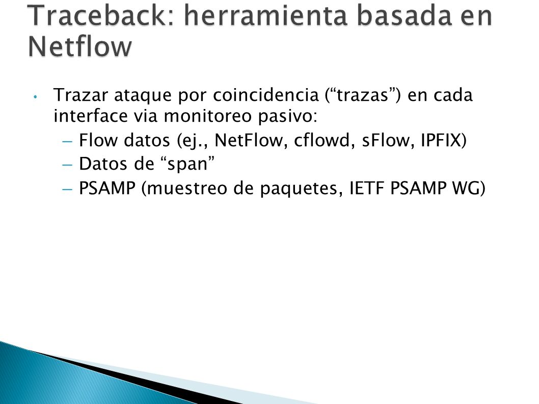 Traceback: herramienta basada en Netflow