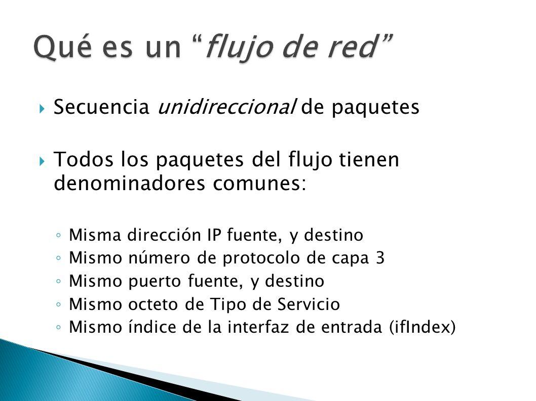 Qué es un flujo de red Secuencia unidireccional de paquetes
