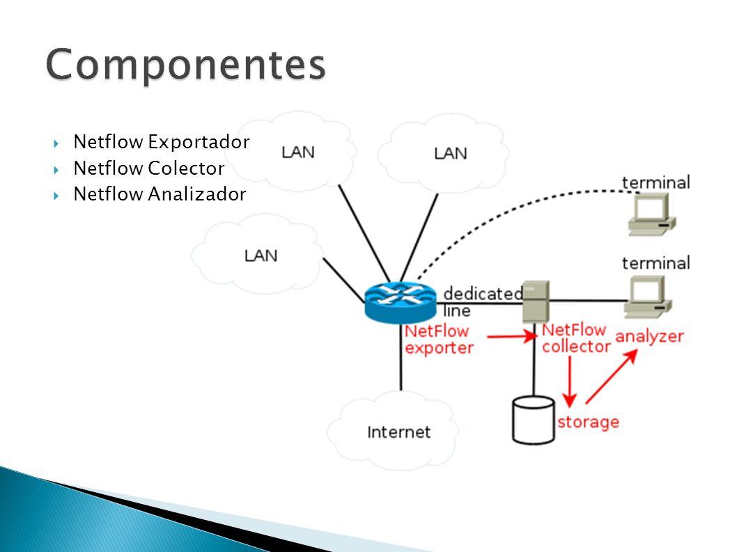 Componentes Netflow Exportador Netflow Colector Netflow Analizador