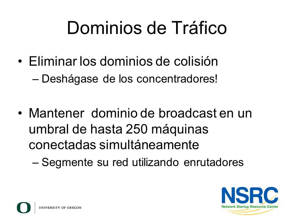 Dominios de Tráfico Eliminar los dominios de colisión