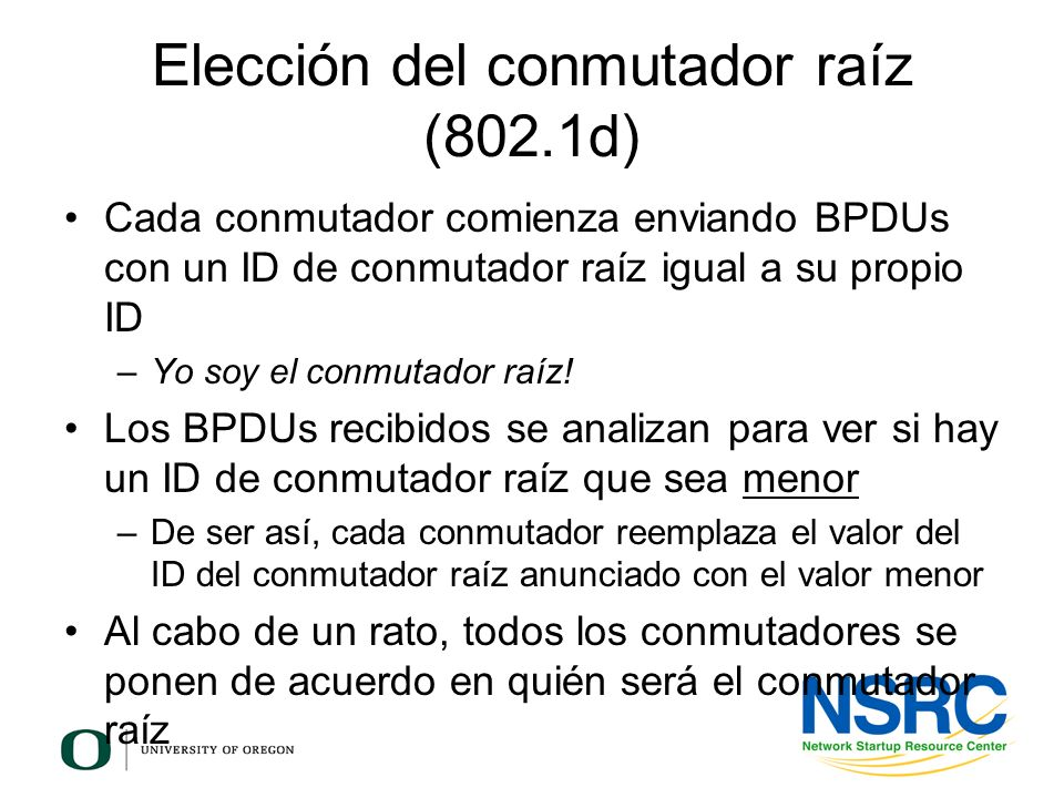 Elección del conmutador raíz (802.1d)