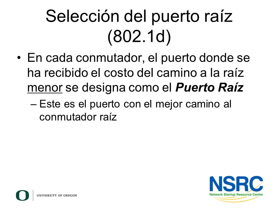 Selección del puerto raíz (802.1d)