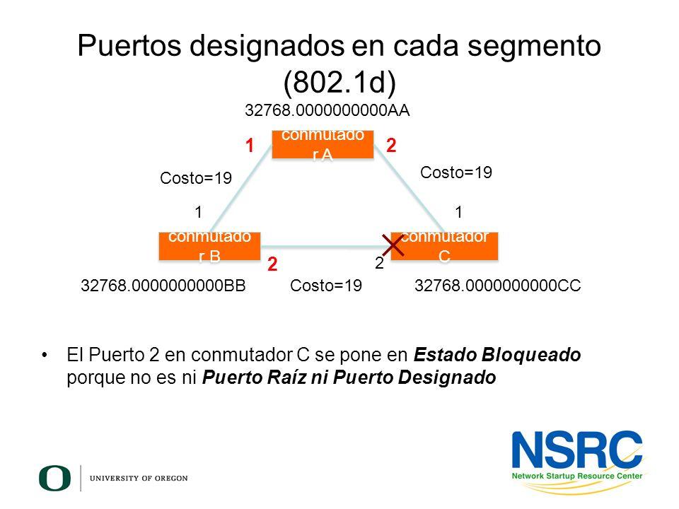 Puertos designados en cada segmento (802.1d)