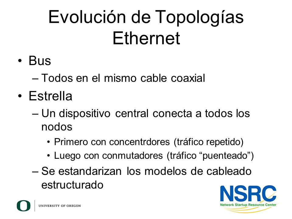 Evolución de Topologías Ethernet