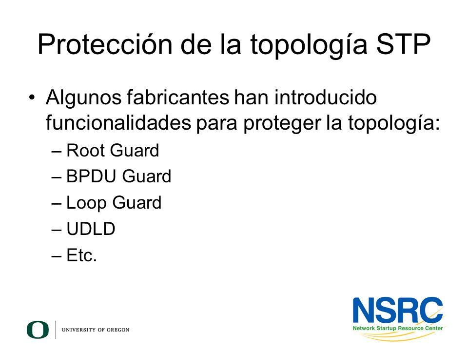 Protección de la topología STP