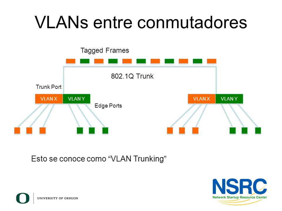 VLANs entre conmutadores