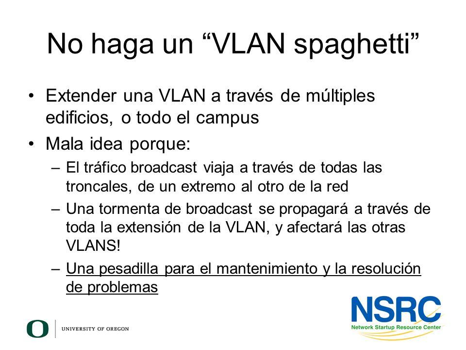 No haga un VLAN spaghetti