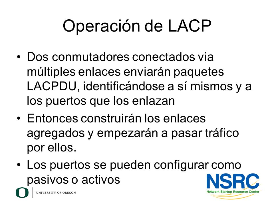 Operación de LACP