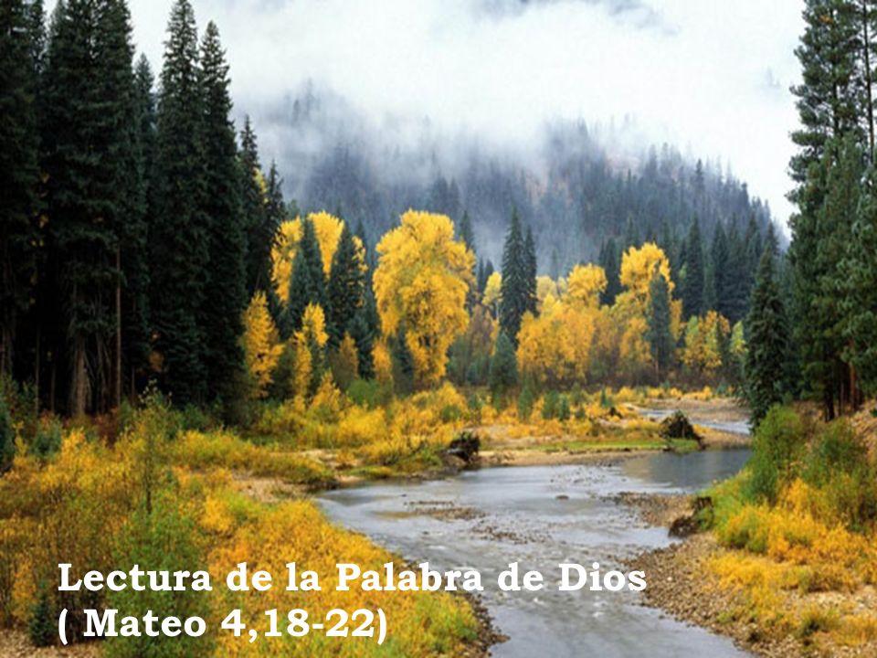 Lectura de la Palabra de Dios ( Mateo 4,18-22)